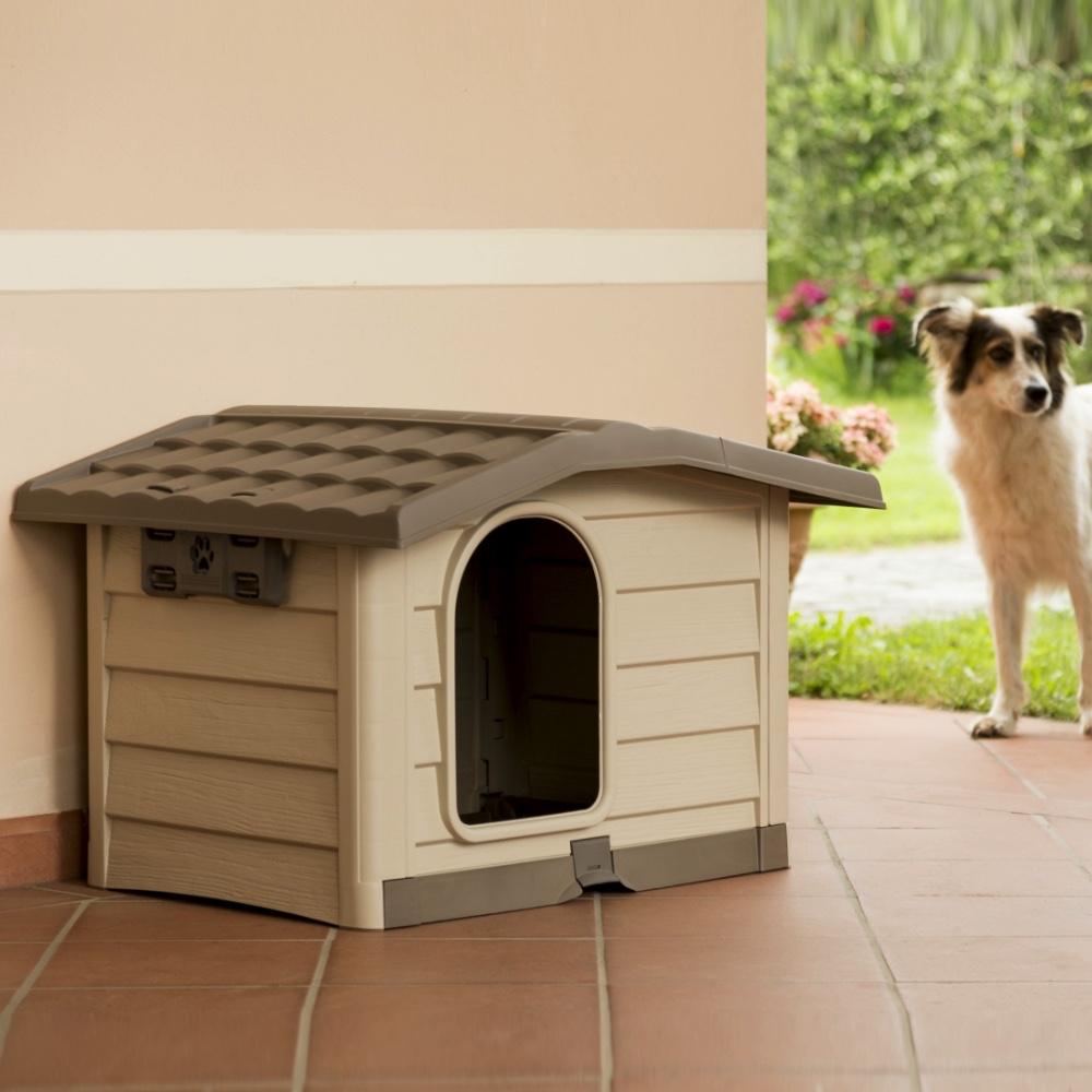Cucce Per Cani Da Esterno In Plastica.Cuccia Per Cani Da Esterno Bungalow Bama Pet Gea Pet Shop