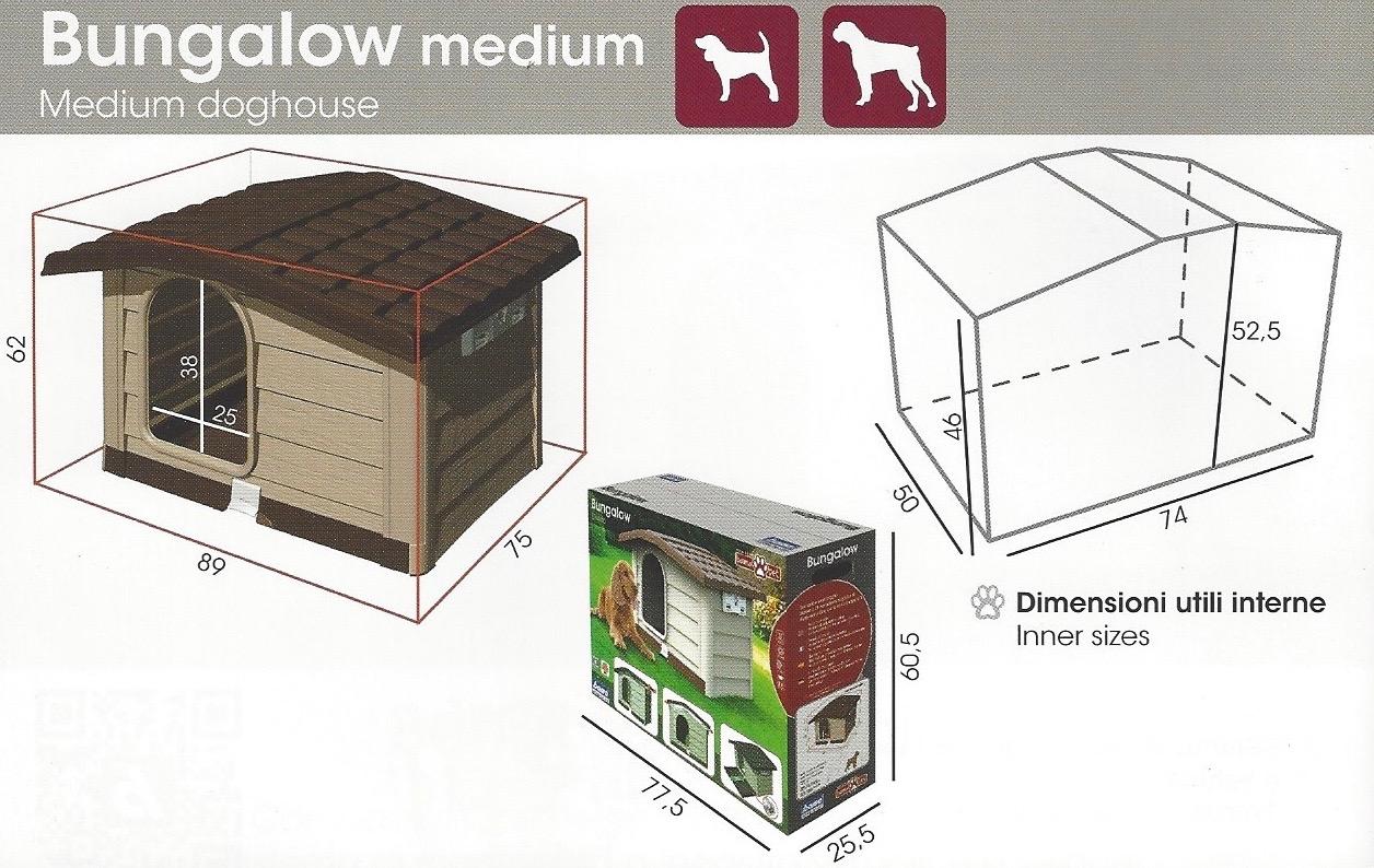 Animali Da Esterno cuccia per cani da esterno bungalow bama pet